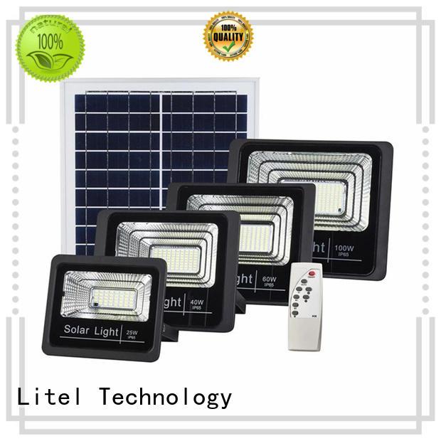 Litel Technology remote control solar powered flood lights for patio