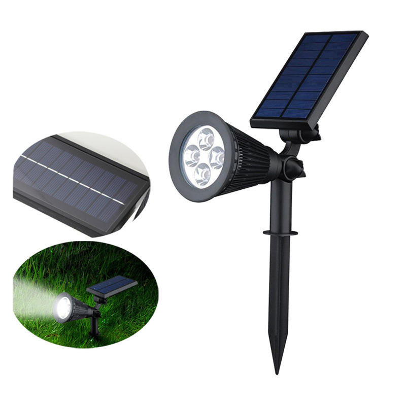 HOT SALE 5.5v ABS outdoor led solar power lawn spot light
