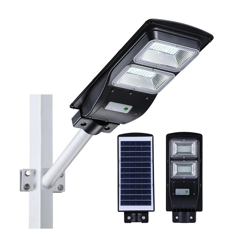 ABS All in one Light&RADAR PIR sensor+remote control  IP65 30W 60W 90W solar street light