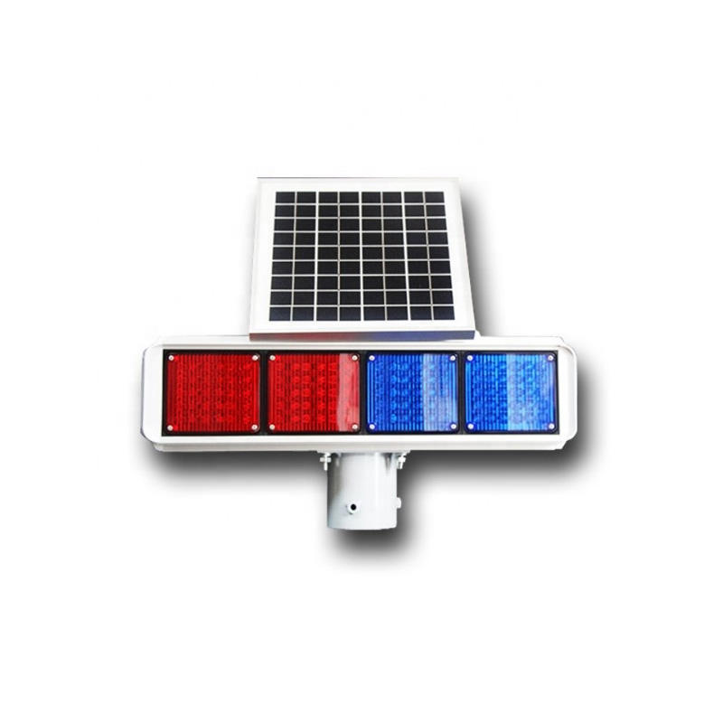 LED Solar Powered Traffic Blinking emergency Light