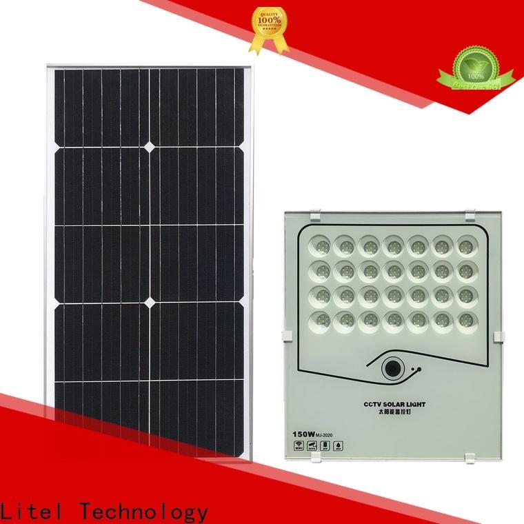 Litel Technology solar powered flood lights for warehouse