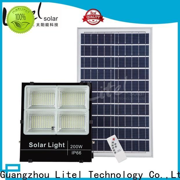 Litel Technology low cost best solar led flood lights by bulk for garage