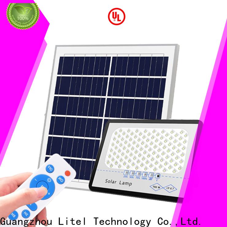 Litel Technology remote control best solar led flood lights for factory