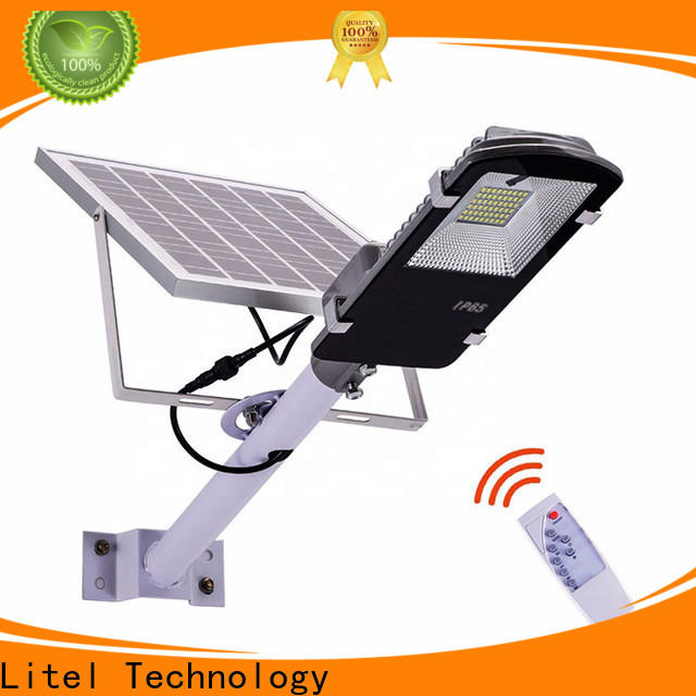 Litel Technology low cost best solar street lights sensor remote control for warehouse