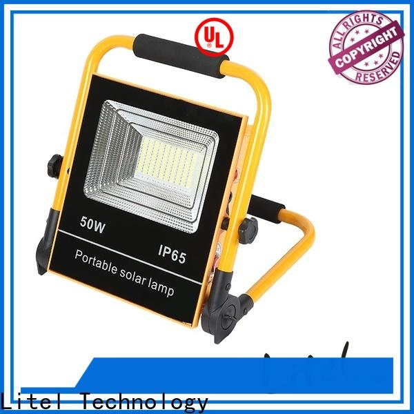 Litel Technology remote control solar flood lights outdoor bulk production for porch