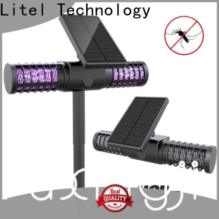 Litel Technology flame solar garden lights pole for lawn