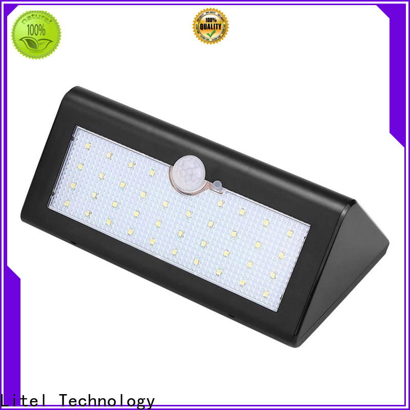 Litel Technology flickering bright solar garden lights abs for gutter