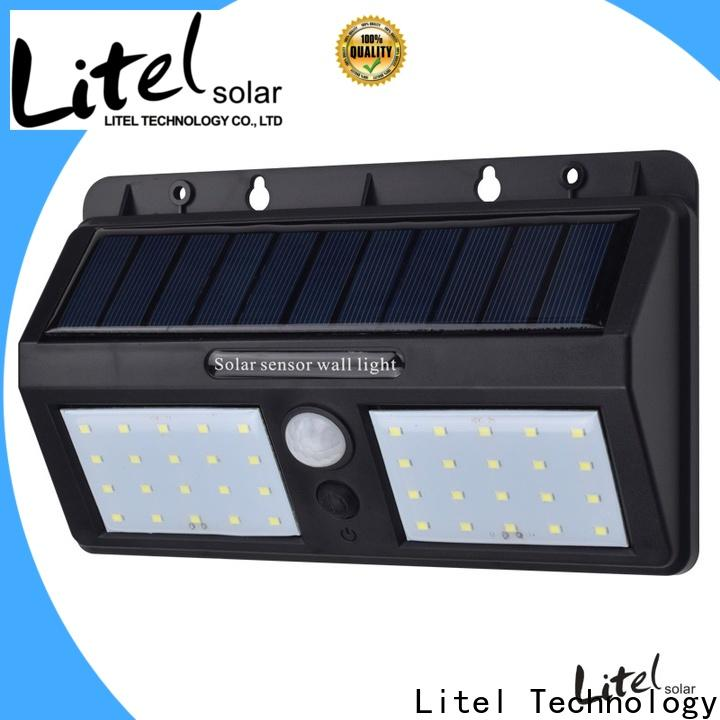Litel Technology wall mounted solar led garden lights lamp for lawn