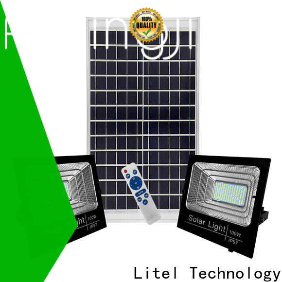 Litel Technology remote control solar powered flood lights bulk production for patio