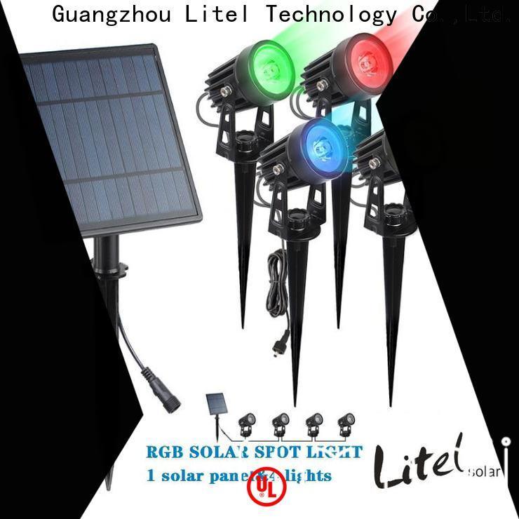 Litel Technology wireless solar garden wall lights power for gutter