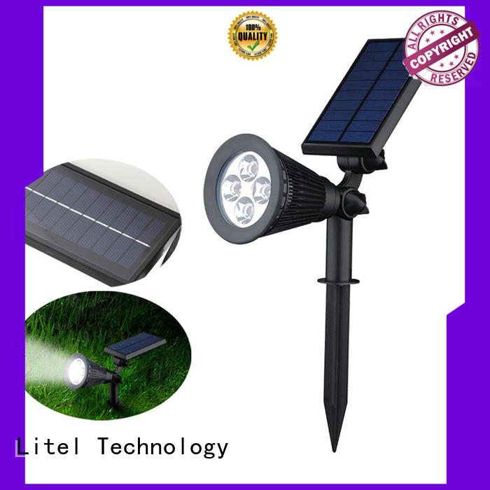 Litel Technology wall mounted solar garden flood lights wall for gutter