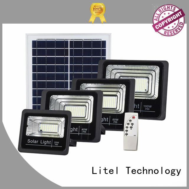Litel Technology low cost solar powered flood lights outdoor by bulk for warehouse