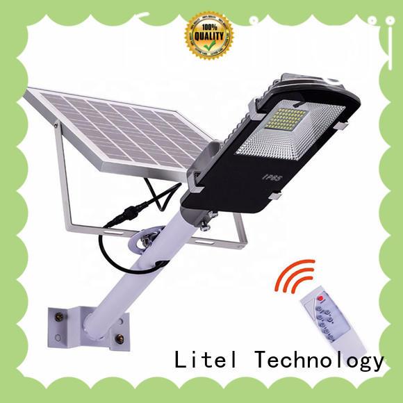 low cost solar powered street lights residential by bulk for barn Litel Technology