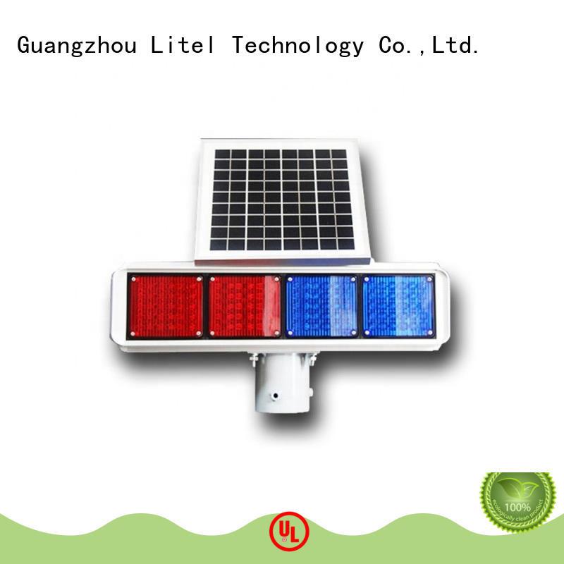solar panel traffic lights output for warning Litel Technology