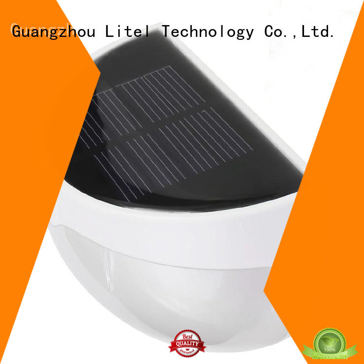 Litel Technology flickering solar garden wall lights motion for lawn