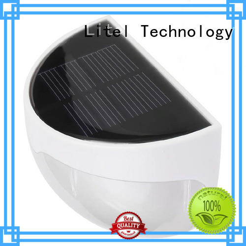 Litel Technology wall mounted solar panel garden lights step for lawn