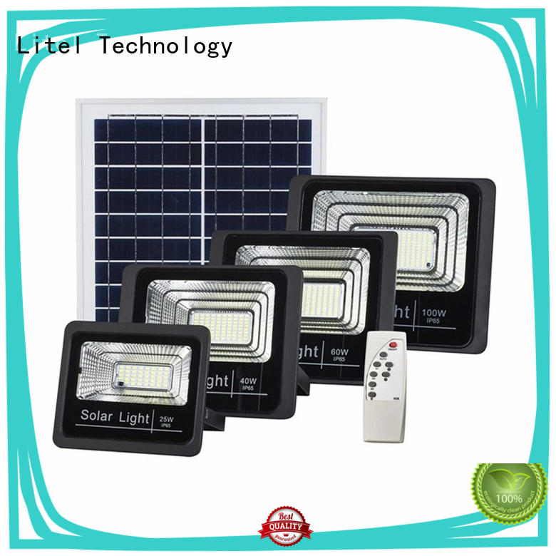 best solar led flood lights low cost for garage Litel Technology