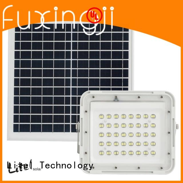 Litel Technology competitive price best solar powered flood light remote control for patio