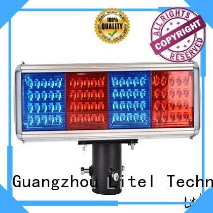 emergency solar powered traffic lights bulk production for alert Litel Technology