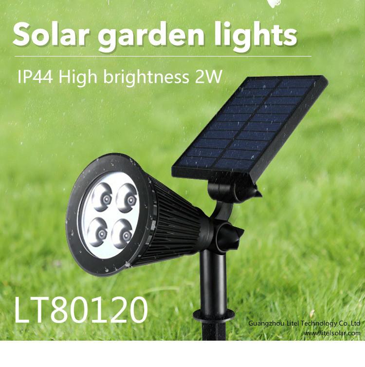 HOT SALE 5.5v ABS outdoor led solar power lawn spot light
