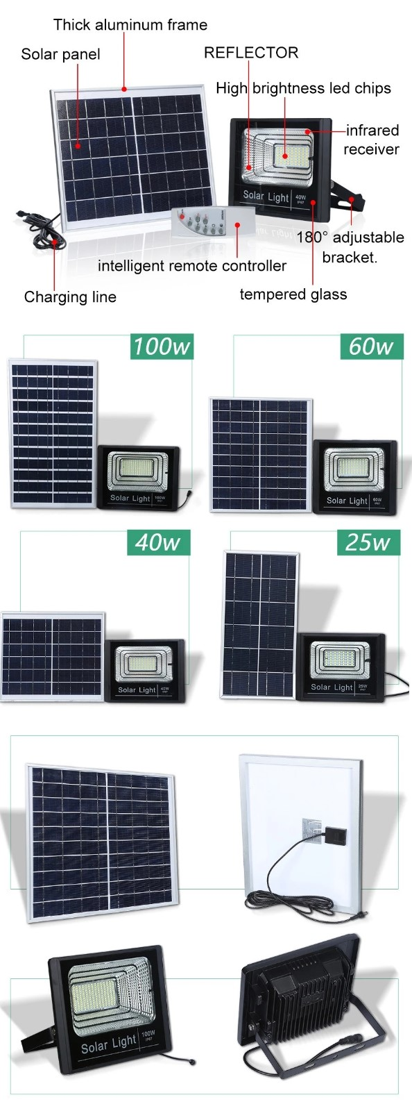 solar led flood light remote control inquire now for barn-4
