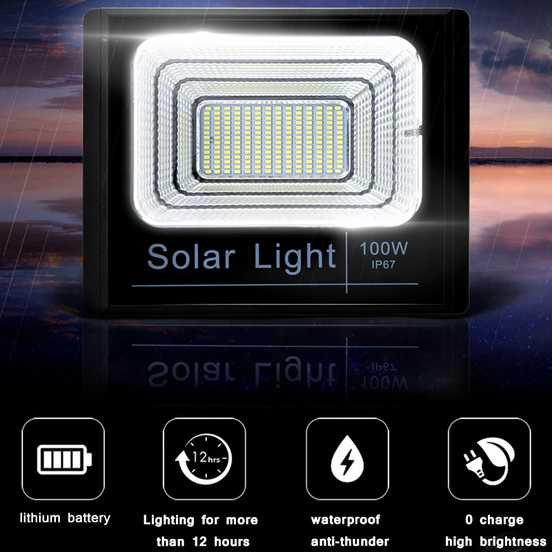solar led flood light remote control inquire now for barn-11