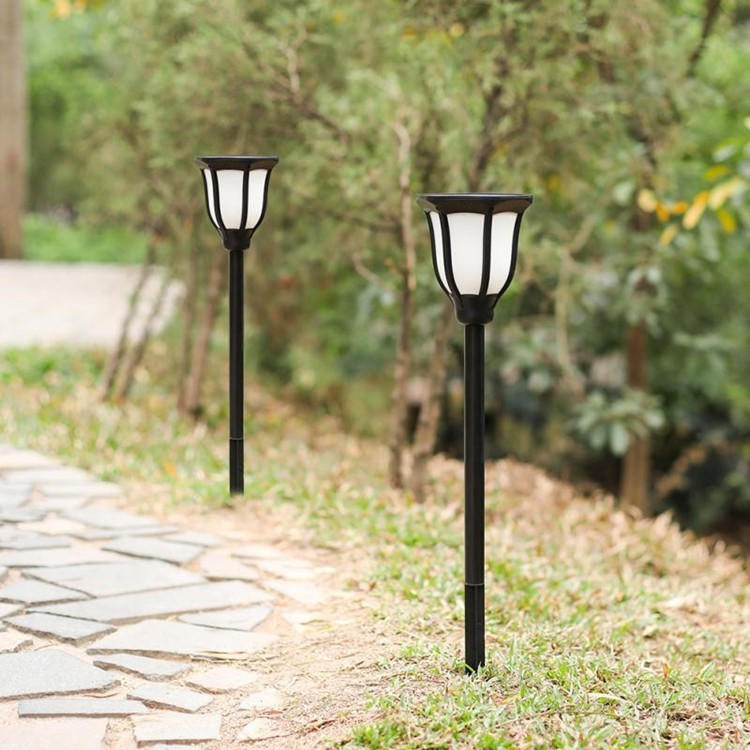 Rechargeable Solar Powered Energy Torch Flame motion sensor Outdoor LED Garden Solar Light