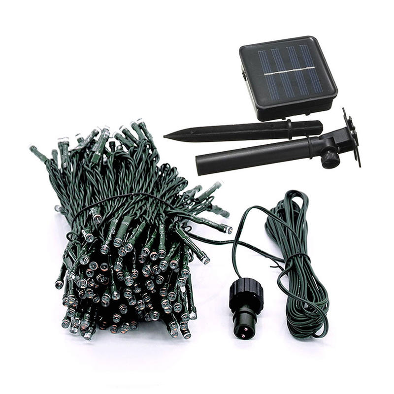 12M 100 LED Christmas Holiday Lights Solar LED String Light