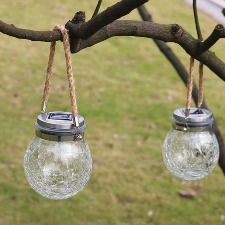 30Leds Solar Mason Jar Light String Glass Lantern Outdoor Decorative String Light