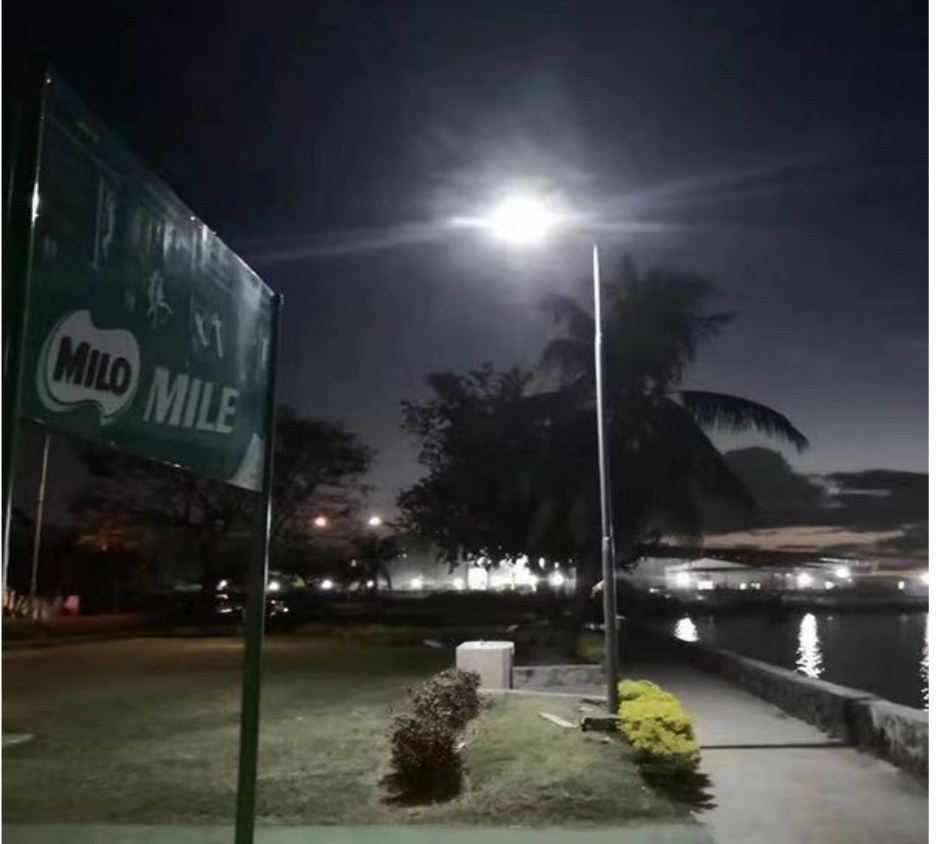 Malaysia ABS all in one solar street light project in park