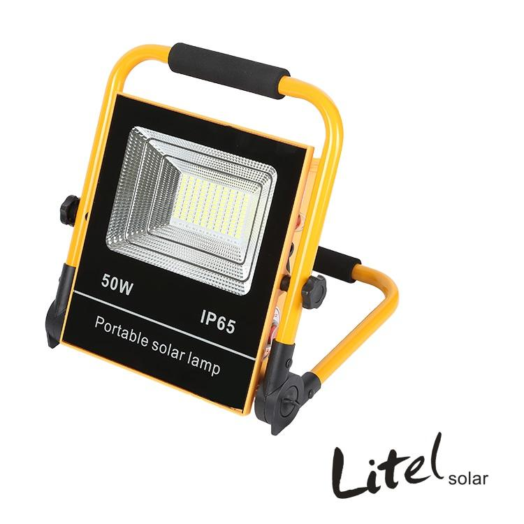 Portable fishing garden IP65 outdoor 50w 100w solar spot/flood light
