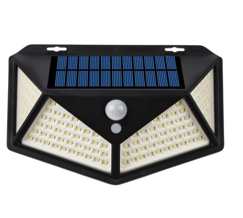 100LED 270 Degree Wide-angle Outdoor Motion  Sensor Power Solar Wall Lights