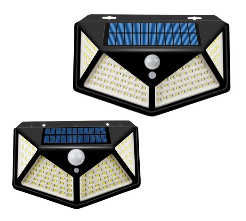 100LED 270 Degree Wide-angle Outdoor Motion  Sensor Power Solar Wall Lights