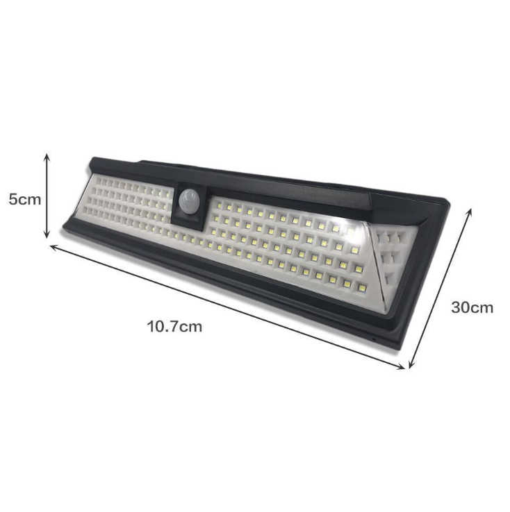 118lLED PIR motion light sensor dimmable  LED Solar wall garden Light
