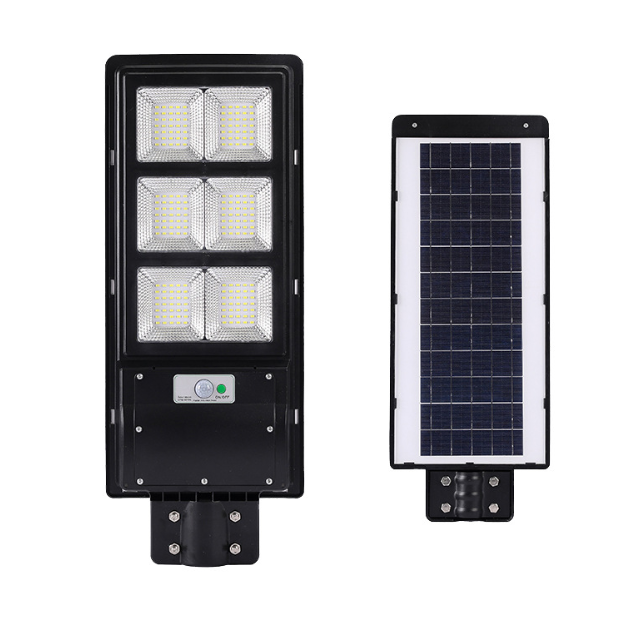 120W 200W 300W E-type high power integrated all in one PIR motion sensor ABS solar street light