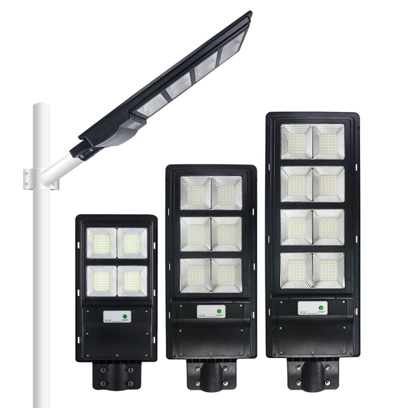 120W 200W 300W high power integrated all in one PIR motion sensor ABS solar street light