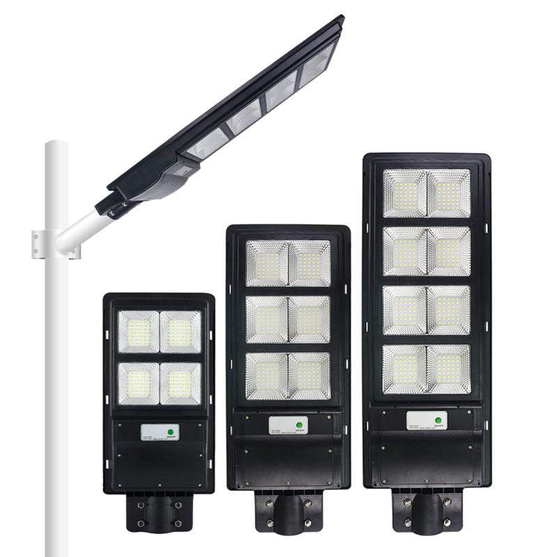 120W 200W 300W E-type high power integrated all in one PIR motion sensor ABS solar street light