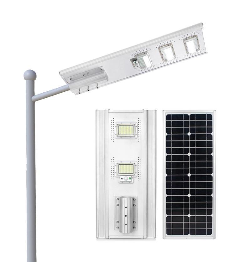100W 200W 300W high brightness A-graded integrated all in one solar street light
