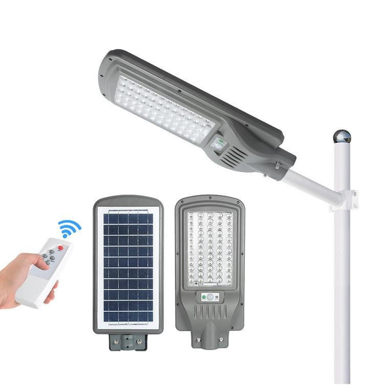 100w 200w 300w PIR motion sensor ABS all in one intergrated solar street light