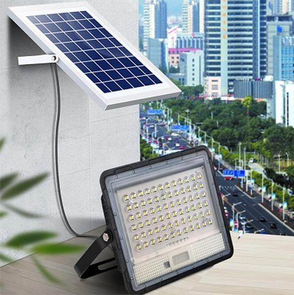 ABS PC lens high brightness solar flood light