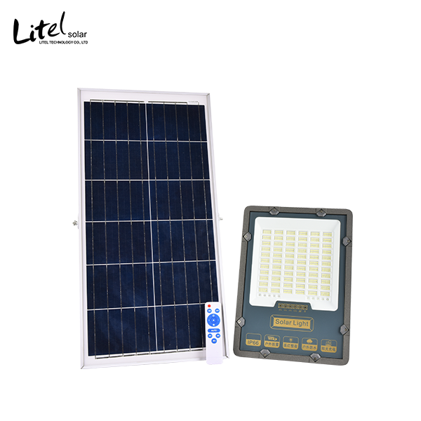 30w 50w 100w 200w 300w solar flood light with battery indicator