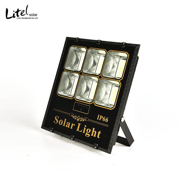 100w 200w 400w New model solar flood light with remote control and light sensor