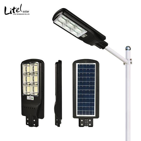 New design integrated all in one solar street light with remote control and PIR motion sensor