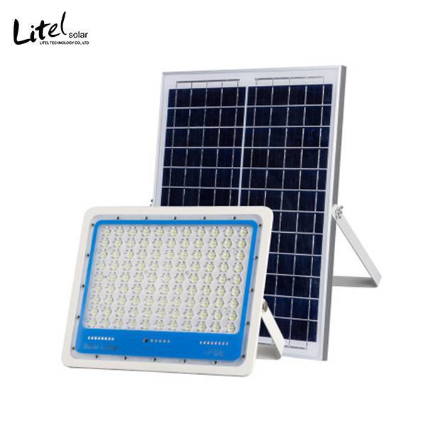 60w 120w 200w new PC lens solar flood light with smart control system
