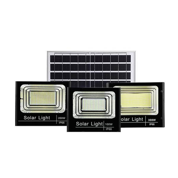 25wv 40w 60w 100w 200w 300w solar flood light with remote control