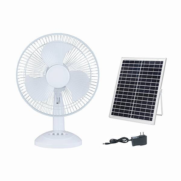 Solar table fan with AC&DC charge