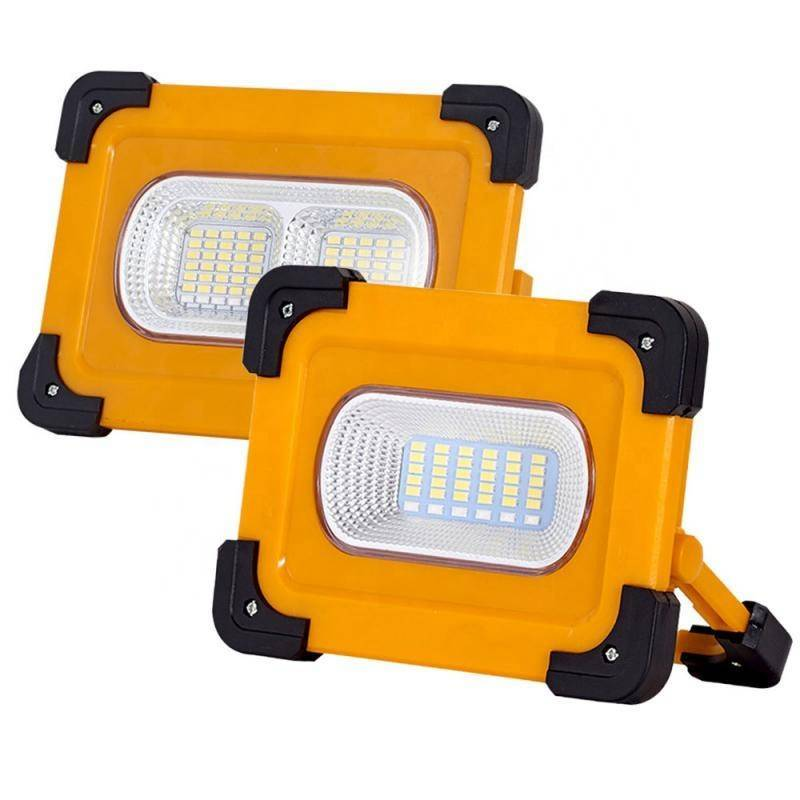 Solar LED Light Rechargeable Car Outdoor Camping Work USB Flood Lamp