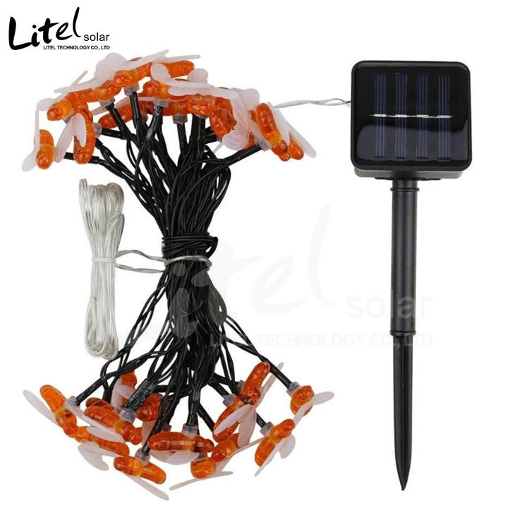 Battery Operated Lights Bees Solar Power Led String Light For Christmas