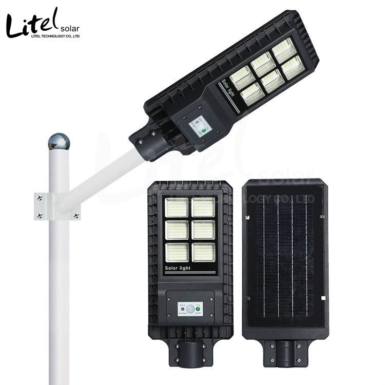 60w 120w 180w high brightness aluminum alloy all in one solar street light with remote controller and sensor