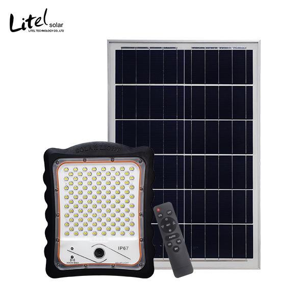Outdoor solar Flood Light with PIR Alarm & Monitoring,HD 1080P WiFi Security CCTV Camera